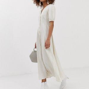 Dresses & Skirts - Linen maxi dress button down